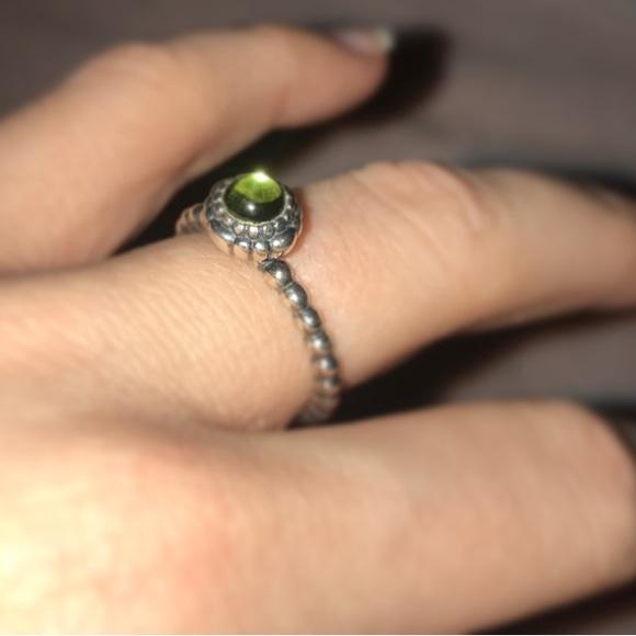 63516a077 Pandora Jewelry - Pandora Sterling Silver & Peridot August ring 💍